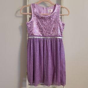 Justice♡ Sequin metallic shimmer sleeveless dress